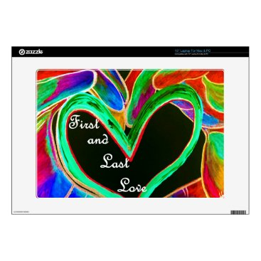 """Wedding Themed First and Last Love 15"""" Laptop Skin"""