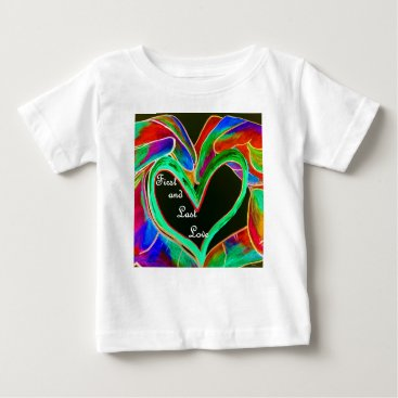 Wedding Themed First and Last Love Baby T-Shirt