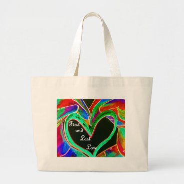 Wedding Themed First and Last Love Large Tote Bag