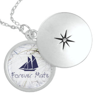 First and Only Sail On Locket Necklace