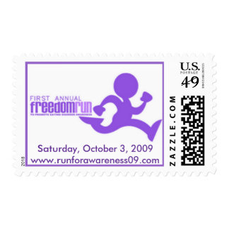 First Annual Freedom Run authentic stamps