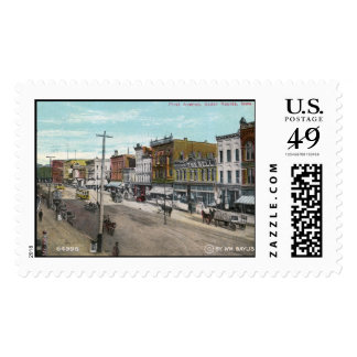 First Ave., Cedar Rapids, Iowa 1911 Vintage Postage Stamp