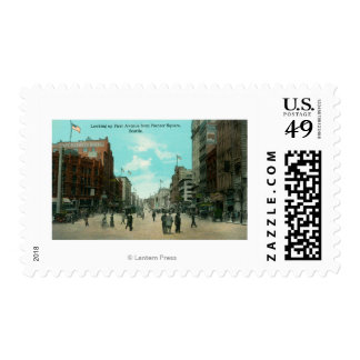 First Ave View from Pioneer Avenue Postage