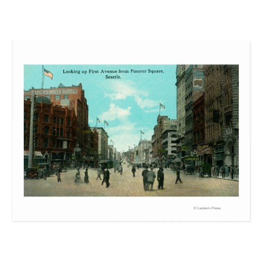 First Ave View from Pioneer Avenue Postcard