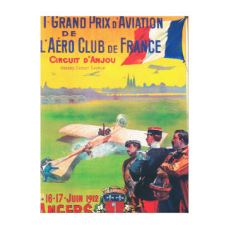 First Aviation Grand Prix Stretched Canvas Prints