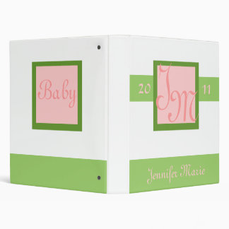 First Baby Photograph Book 3 Ring Binder