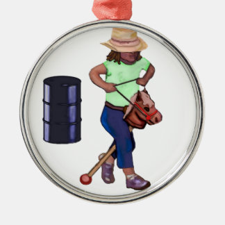 First Barrel Race Metal Ornament