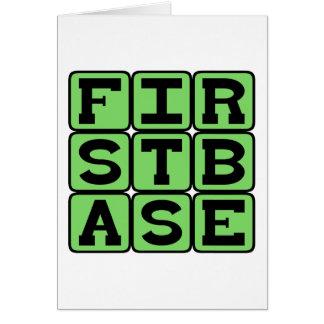 First Base, Baseball Position Card