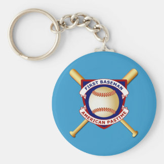 First Baseman, American Pastime Basic Round Button Keychain
