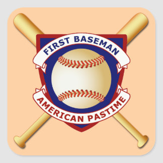 First Baseman, American Pastime Square Sticker