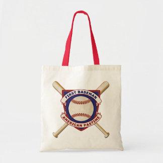 First Baseman, American Pastime Tote Bag