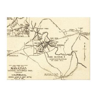 First Battle of Bull Run - Civil War Panoramic 2 Canvas Print