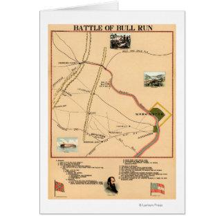 First Battle of Bull Run - Civil War Panoramic 2 Card