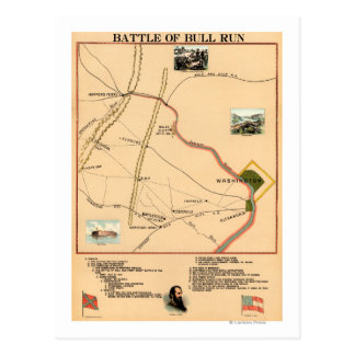 First Battle of Bull Run - Civil War Panoramic 2 Postcard