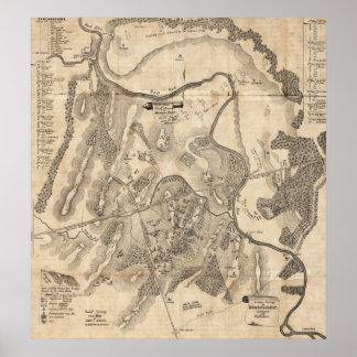 First Battle of Bull Run - Civil War Panoramic 2 Poster