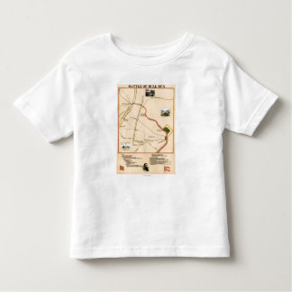 First Battle of Bull Run - Civil War Panoramic 2 T Shirt