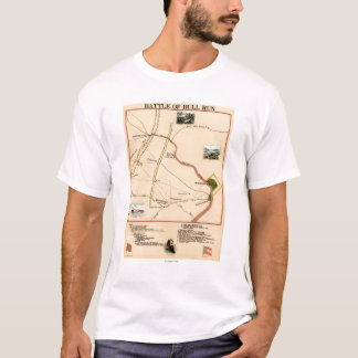 First Battle of Bull Run - Civil War Panoramic 2 T-Shirt