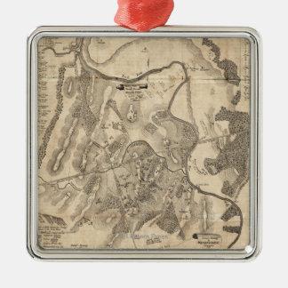 First Battle of Bull Run - Civil War Panoramic 4 Metal Ornament