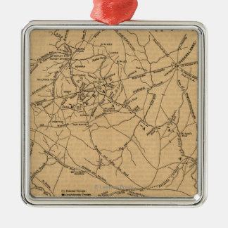 First Battle of Bull Run - Civil War Panoramic 5 Metal Ornament