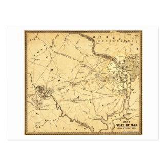 First Battle of Bull Run - Civil War Panoramic 6 Postcard