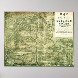 First Battle of Bull Run - Civil War Panoramic Posters