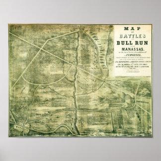 First Battle of Bull Run - Civil War Panoramic Poster