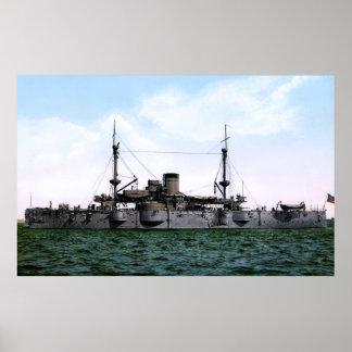 FIRST BATTLESHIP USS TEXAS 1898 POSTER