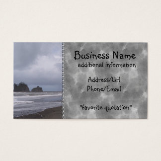 First Beach At LaPush Business Card