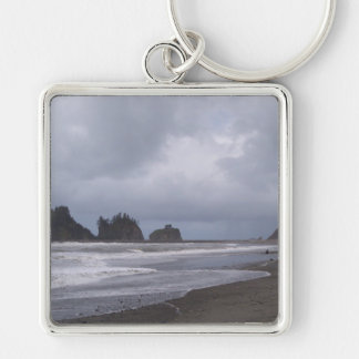 First Beach At LaPush Keychain