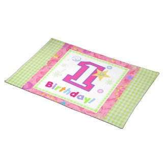 First Birthday 1 Cloth Place Mat