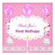 First Birthday Party Invitations 1st Birthday photo Invitations