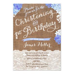 Christening 1st Birthday Invitations Zazzle