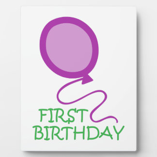 FIRST BIRTHDAY APPLIQUE PLAQUES