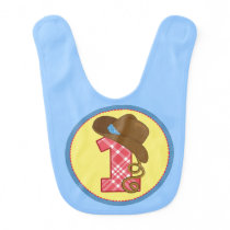 "First Birthday Baby Bib ""Cowboy"""