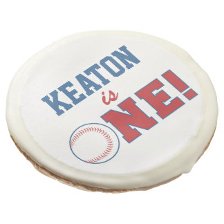 First Birthday Baseball Cookie