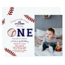 Baseball 1st Birthday Invitations Zazzle