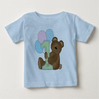 First Birthday Bear & Balloons Baby T-Shirt