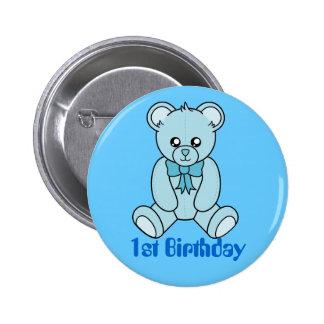 First Birthday Bear ( boy) Button