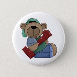 First Birthday Bear Pin Button