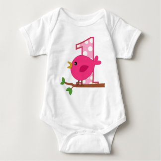 First Birthday Birdie Baby Bodysuit