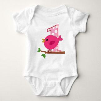 First Birthday Birdie Baby Bodysuit