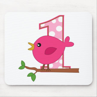 First Birthday Birdie Mouse Pad