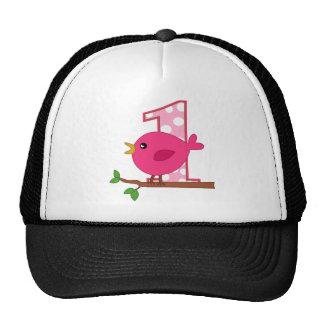 First Birthday Birdie Trucker Hats