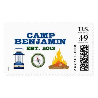 First Birthday Camping Stamp