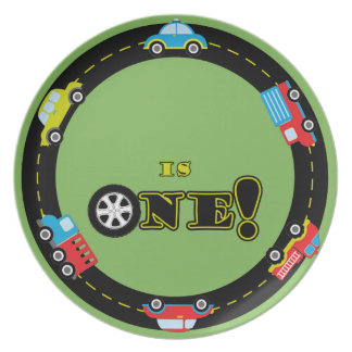 First Birthday Cars Customizable Party Plates