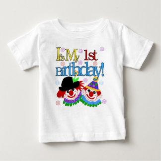 First Birthday Clown Baby T-Shirt