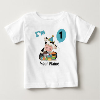 First Birthday Cow T Shirts