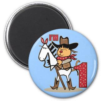 First Birthday Cowboy Stick Horse Age 1 Magnet