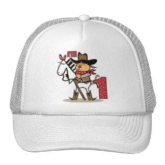 First Birthday Cowboy Stick Horse Age 1 Trucker Hat