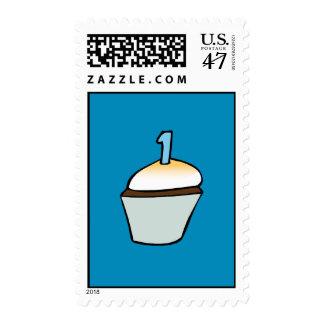 First Birthday Cupcake Postage